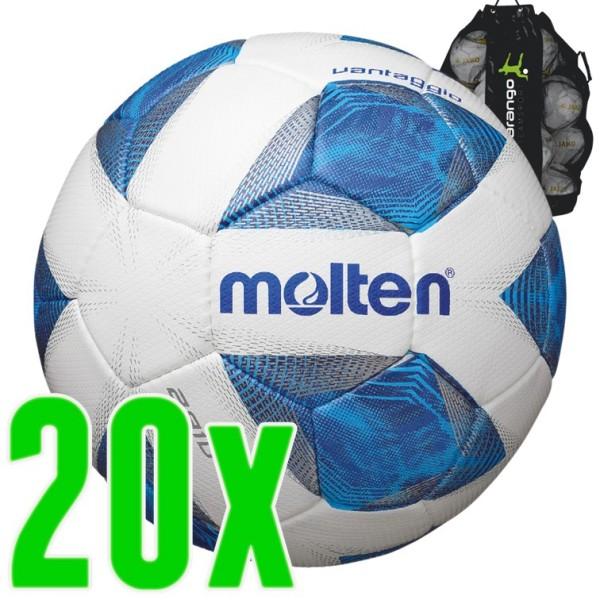 20er Ballpaket Molten Trainingsball 2810 blau