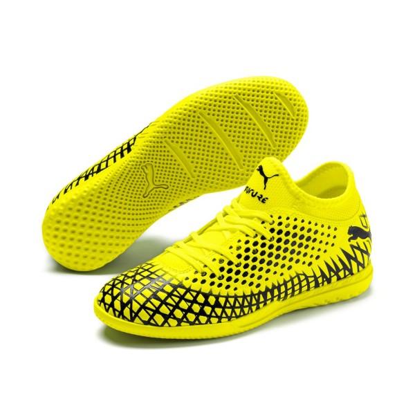 Puma Future 4.4 IT Hallenschuhe Kinder gelb schwarz