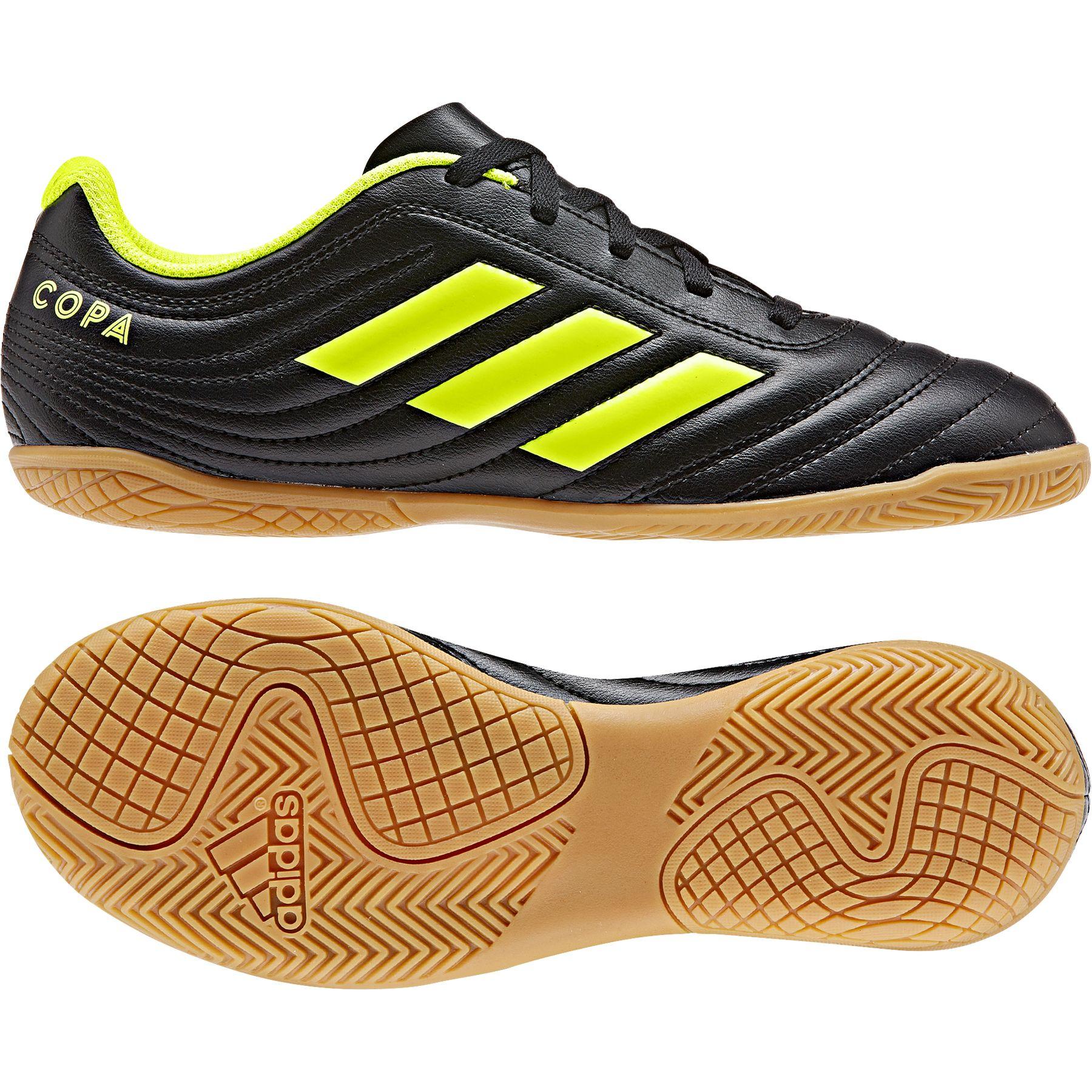 Schatz als seltenes Gut Neuankömmling unverwechselbarer Stil Adidas Copa 19.4 IN Hallenschuhe Kinder schwarz gelb