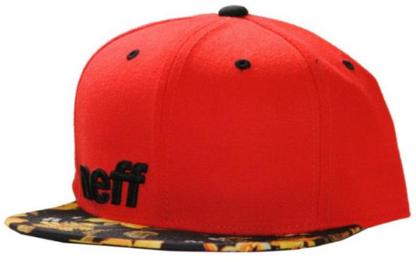 NEFF Daily Snapback Cap red/floral/black  Herren NEU