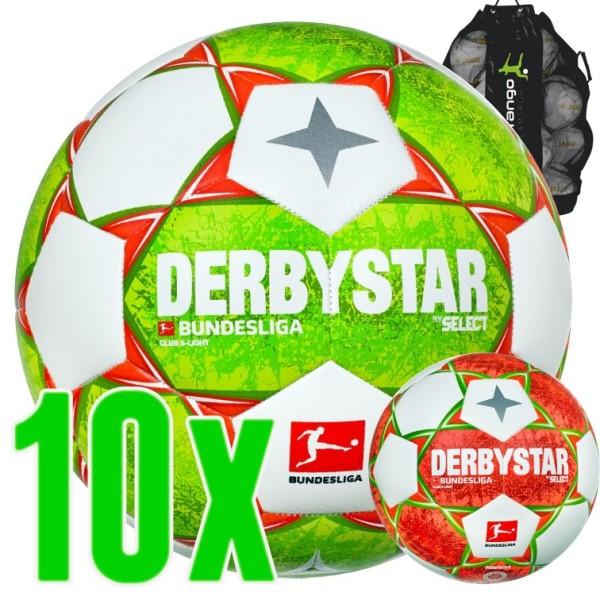 10er Ballpaket Derbystar Bundesliga Club S-Light Fußball 2021/22 Kinder