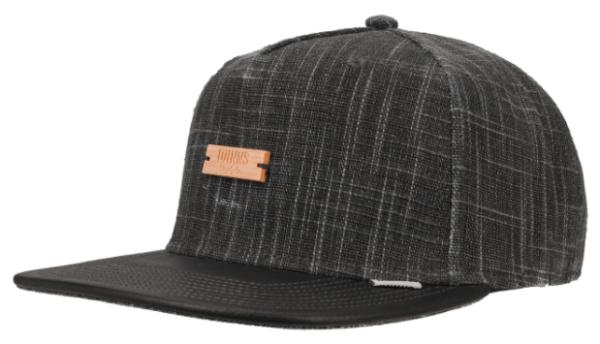 Djinns IndoLin Snapback Cap schwarz/anthrazit mit Holzlogo Unisex NEU