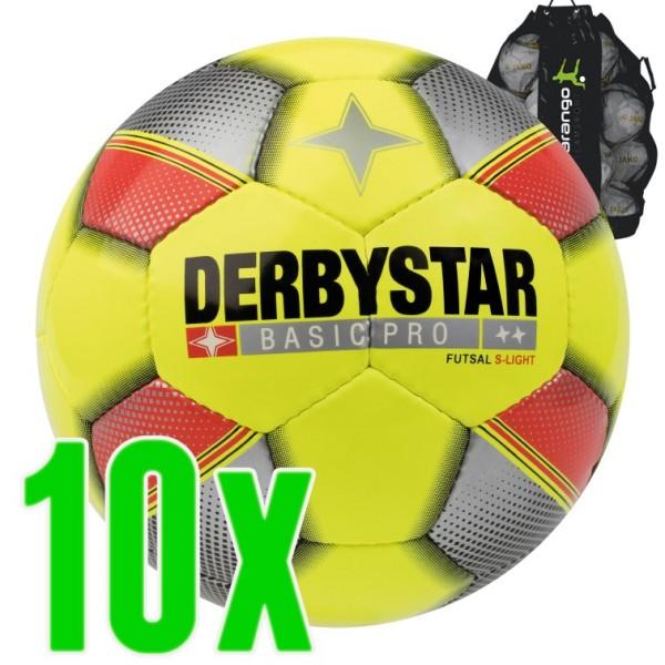Derbystar Basic Pro S-Light Futsal 10er Ballpaket inkl. Ballsack