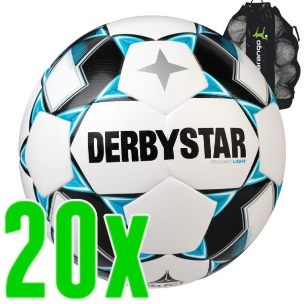 20er Ballpaket Derbystar Brillant Light DB Fußball