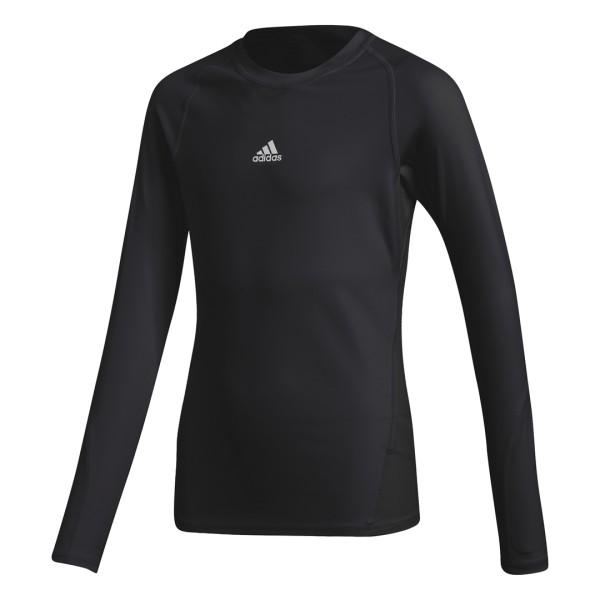 Adidas Alphaskin Longsleeve Kinder schwarz