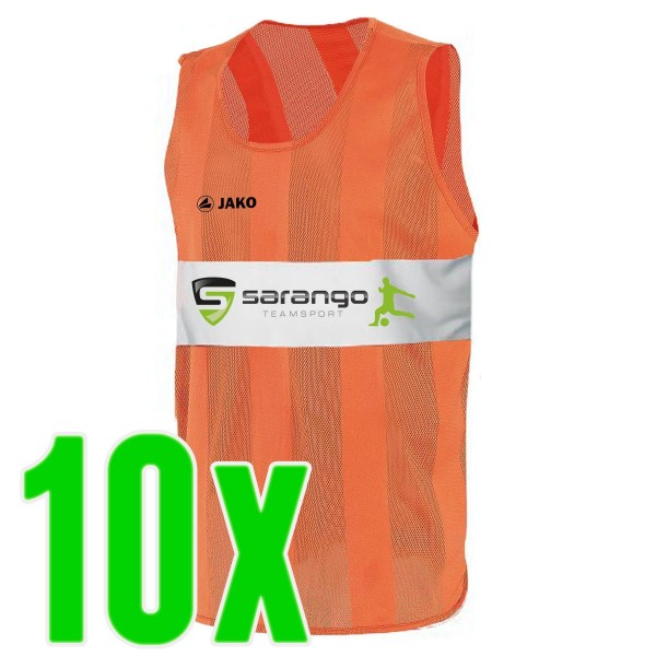 Jako Trainingsleibchen orange 10er Set Sarango Logo
