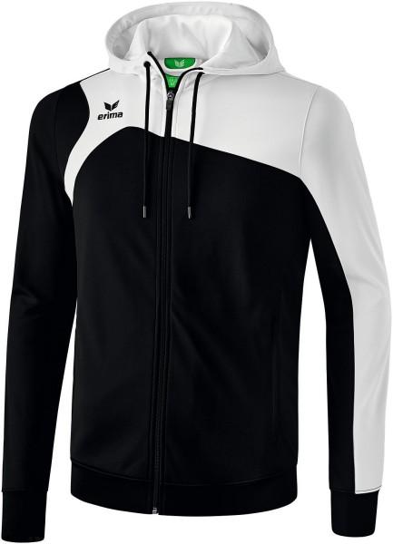Erima Club 1900 2.0 Trainingsjacke mit Kapuze Kinder schwarz weiss