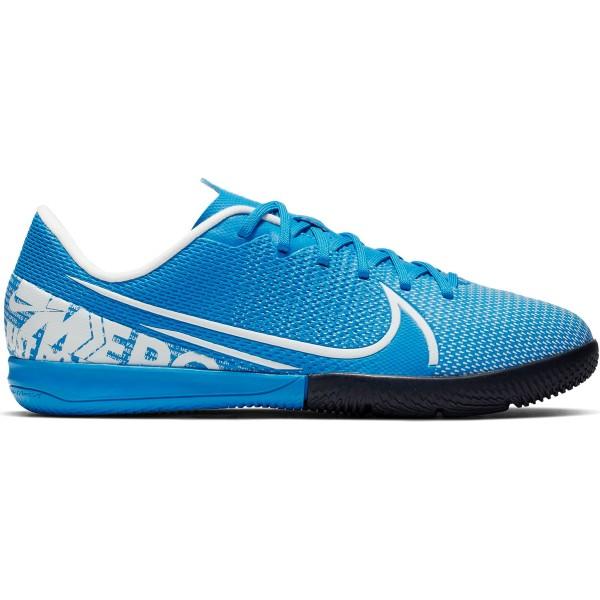 Nike Jr. Vapor 13 Academy IC Hallenschuhe Kinder blau weiß